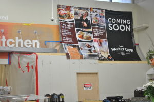 Market Cafe under construction at Hy-Vee