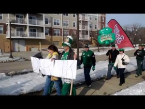 St. Patrick's Day parade at Boston's in Faribault