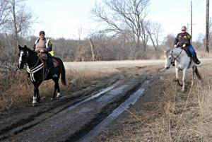 Searching on horseback