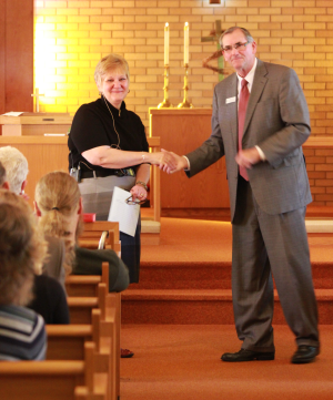 Katherine King presented pastor's license to lead Janesville church congregation