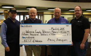Roundbank donates $15,000 to Waseca County Veterans Memorial project
