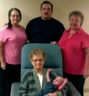 Five generations of the Sperle Family of Waseca
