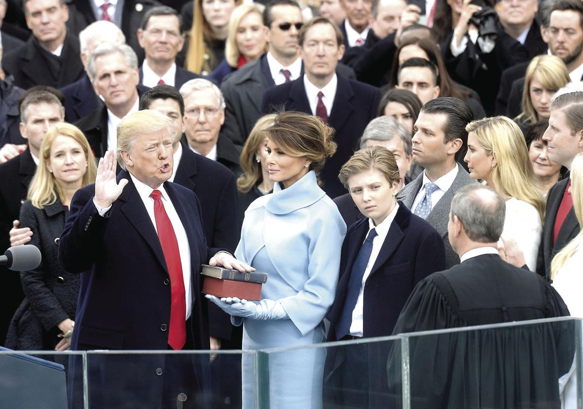 Donald Trump sworn in as president, promises to lift up 'the forgotten'