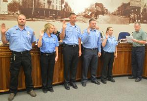 Five new Waseca firefighters sworn in at City Council meeting