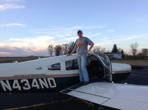 Rohlfing of Cleveland completes first student solo flight