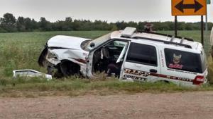 Sheriff's car struck