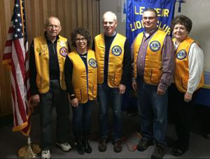New members inducted into the Le Sueur Lions Club