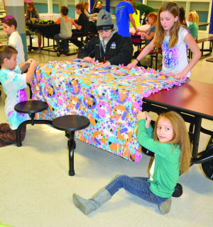 Tie blankets at St. Mary's