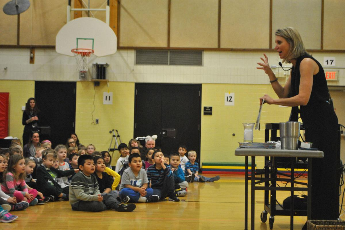 KARE's Belinda Jensen teaches Greenvale Park Elementary the science behind weather with children's books