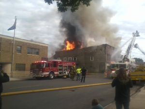 Historic Rogers building in Waterville a total loss to fire