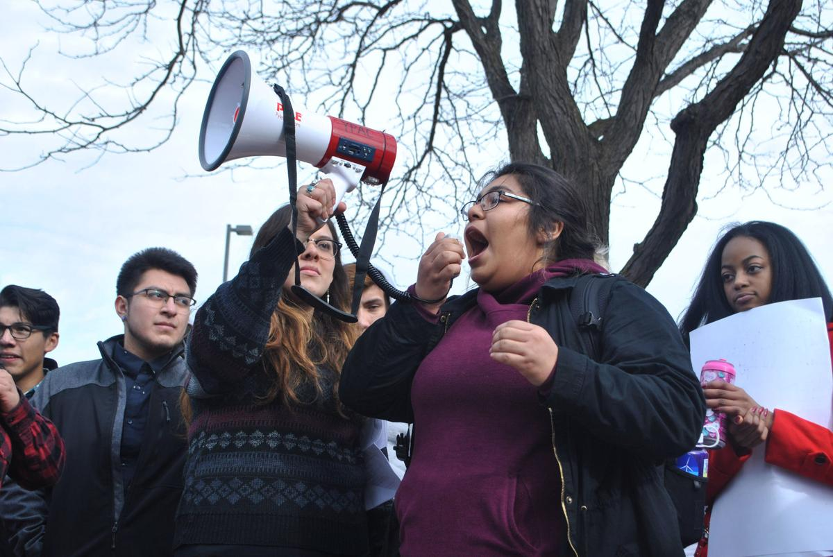 More than 250 Northfield students walk out of class for nationwide 'Day Without Immigrants'