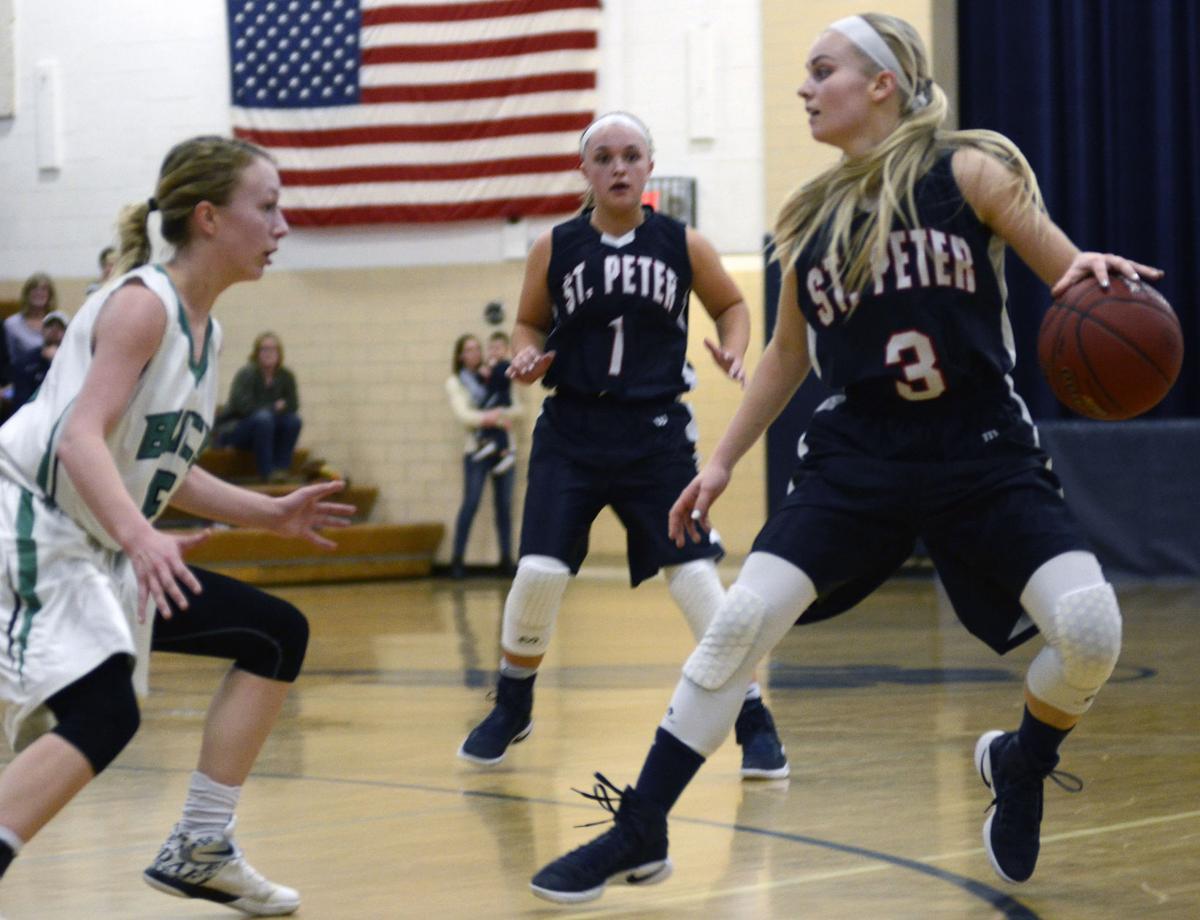 St. Peter girls basketball beats WEM 59-54 in OT with defense