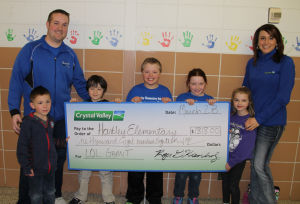 Hartley Elementary in Waseca receives grant from Crystal Valley & Land O' Lakes Foundation