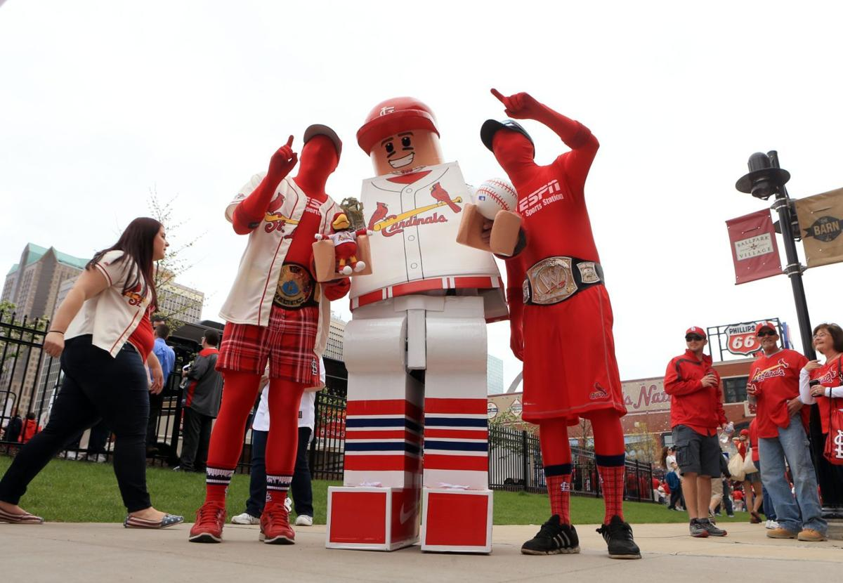 Fans And Hall Of Famers At Cardinals Home Opener