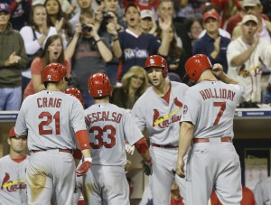 Video: Descalso, Wainwright enjoy big nights against Padres