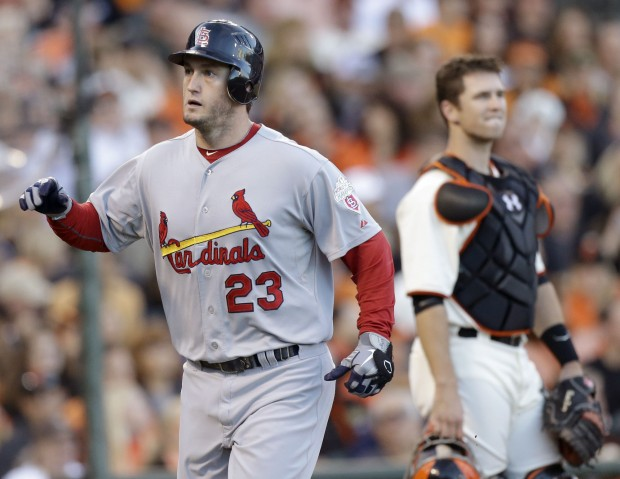 The St. Louis Cardinals vs. the San Francisco Giants in Game 1 of the NLCS