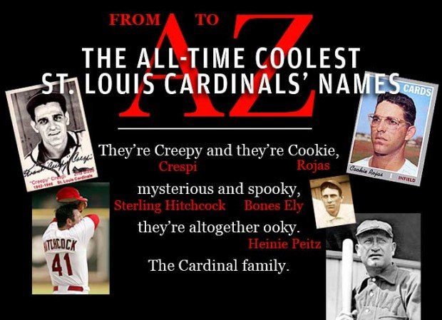The All-Time Coolest St. Louis Cardinals' Names: An A to Z Guide