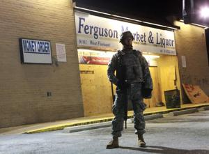 National Guard triples its numbers in Ferguson