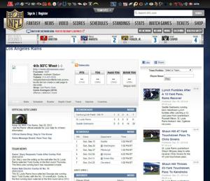NFL website has a page for Rams – the LA Rams