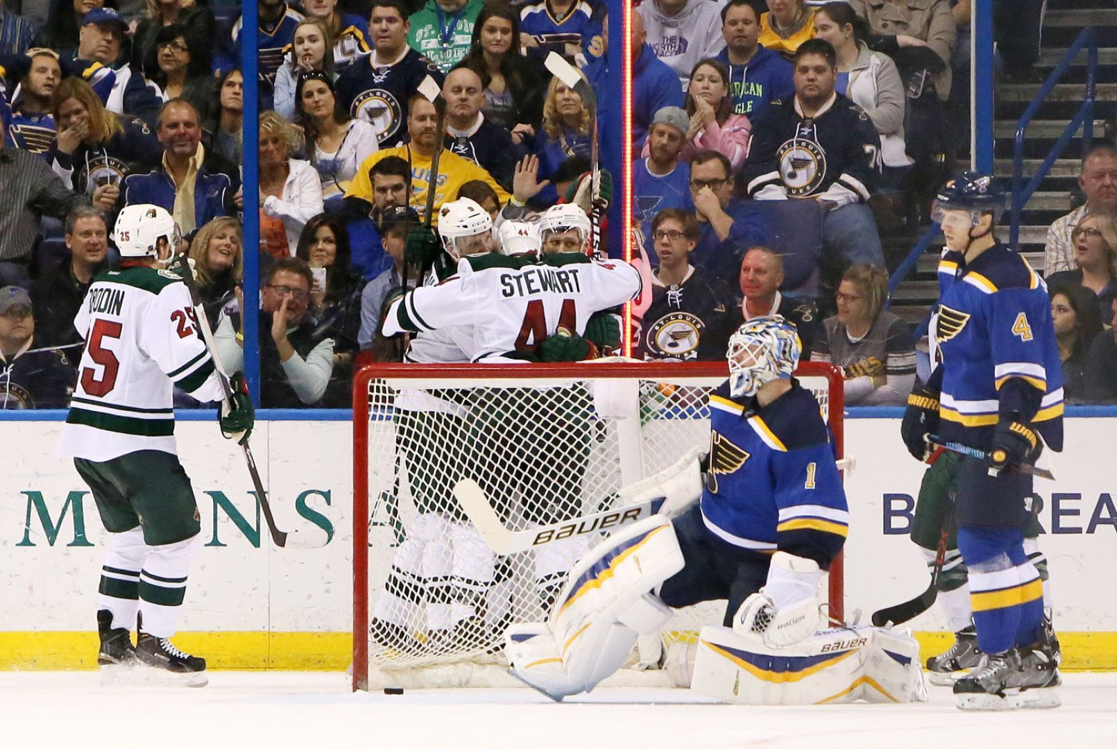 Blues Falter Late, Lose To Wild