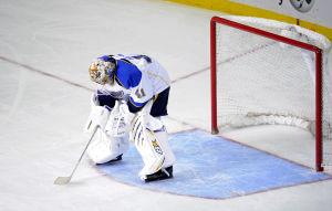 Blues Snowed Under In 7-1 Loss To Devils