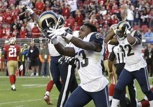 Rams in pads for spirited special teams workout