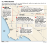 Football Stadium Possibilities in the Los Angeles Area map