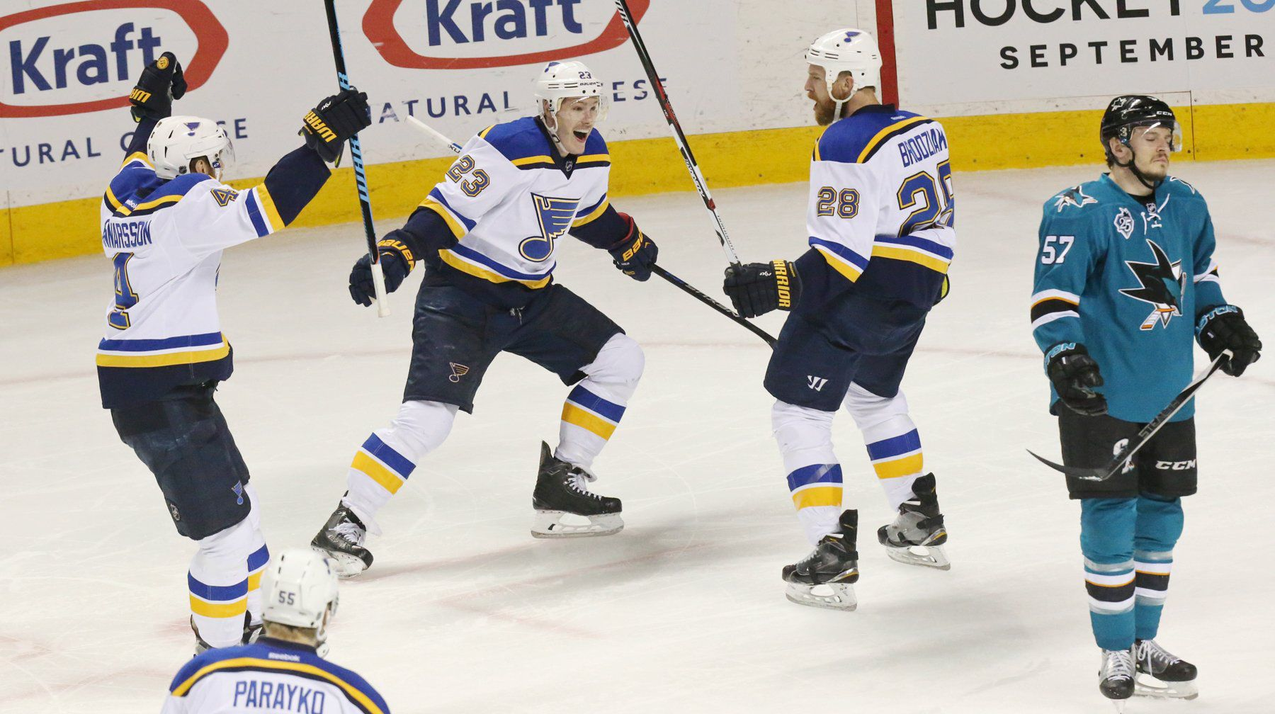 Blues Bite Back With Game 4 Win Over Sharks