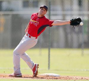 Tuesday's workout with the Cardinals at spring training
