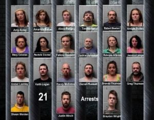 21 arrested in drug roundup