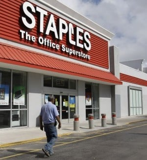 Union protests postal counters in Staples stores