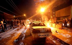 Protests in downtown St. Louis and Ferguson on Tuesday, Nov. 25