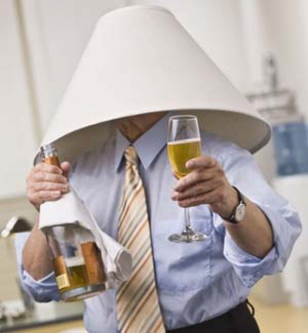 Lamp Shade On Head : Inclined to dance on the table lampshade head read