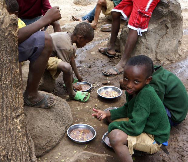 Hungry Africans waged in hungry Africa
