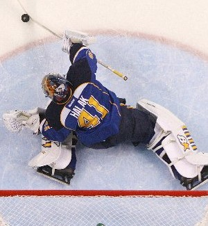 Blues Beat Sharks, 3-0, To Even Series