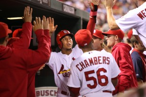 Jon Jay takes off at leadoff