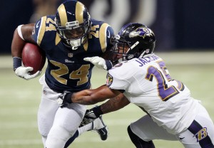 Rams' key to running game is not falling behind early