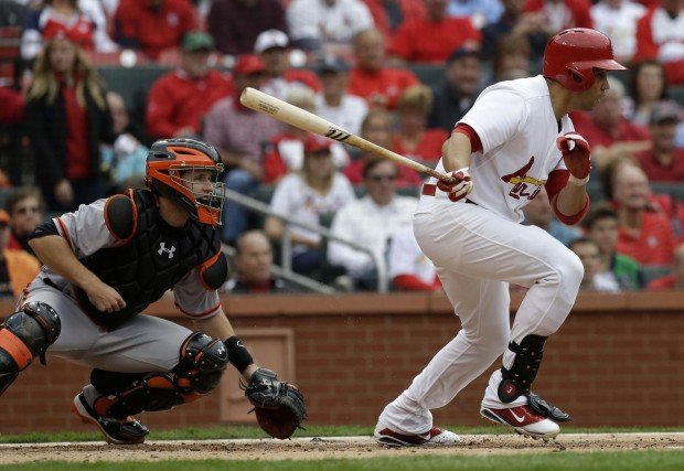 The St. Louis Cardinals vs. the San Francisco Giants in Game 3 of the NLCS