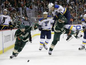 Wild dominate in 3-0 win over Blues