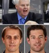 Ken Hitchcock, Jaroslav Halak and Brian Elliott