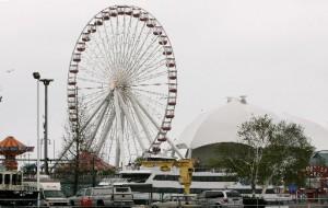 Ferris wheel from Chicago's Navy Pier going to Branson