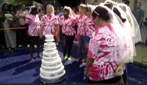 Watch area brides during the Best Bridal Cake Dive