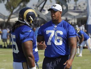Saffold's back, and at right guard