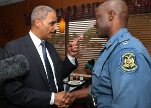 Attorney General Eric Holder in St. Louis