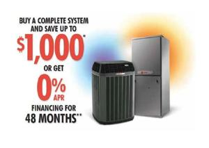 Buy a Complete Trane System and Save up to $1,000 - or get 0% financing for 48 Months Call Viviano Heating & Air Conditioning today 618-345-7498