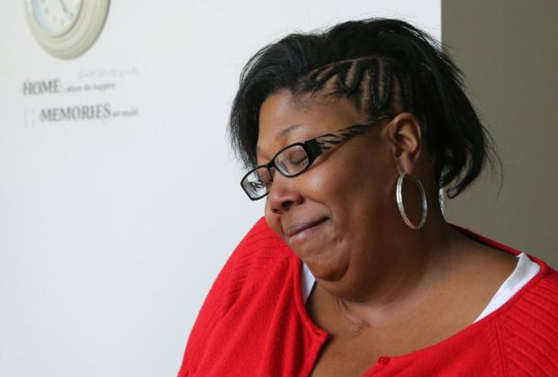 Curesa Atkins, 42, at the new Garfield Commons