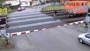 Man narrowly misses being struck by train