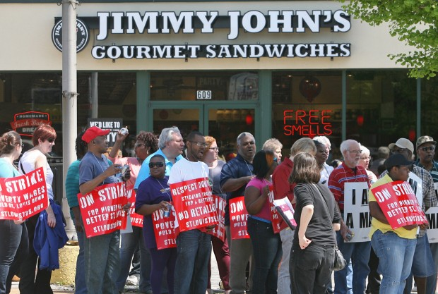 Maybe some day there will be a historic marker at the Jimmy John's restaurant on South Broadway in Soulard to mark the wildcat strike last Wednesday.