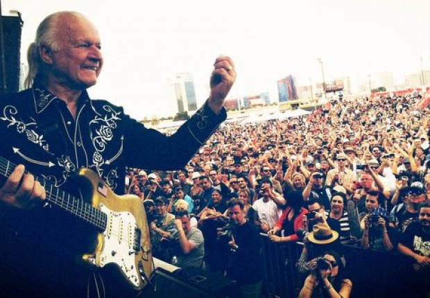 Dick Dale in performance at the Viva Las Vegas Extravaganza on March 29, 2013. Photo by Daniel Hernandez