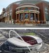 Edward Jones Dome and Wembley Stadium